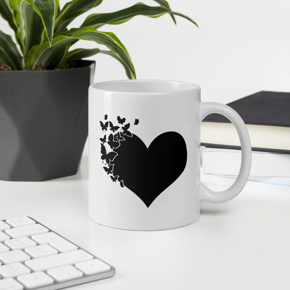 Heart Butterfly Cute Coffee Mug