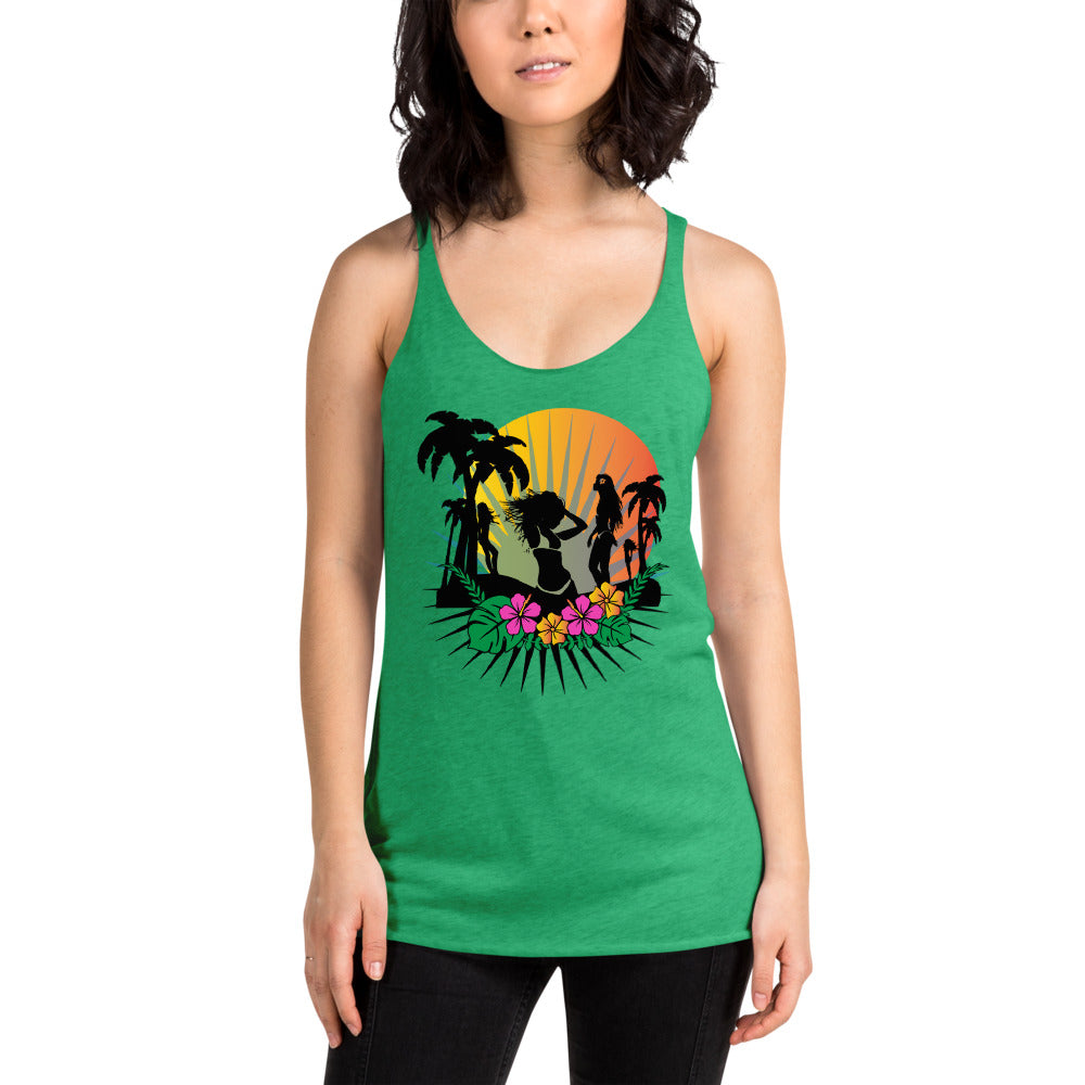 Beach Women's Racerback Tank Top