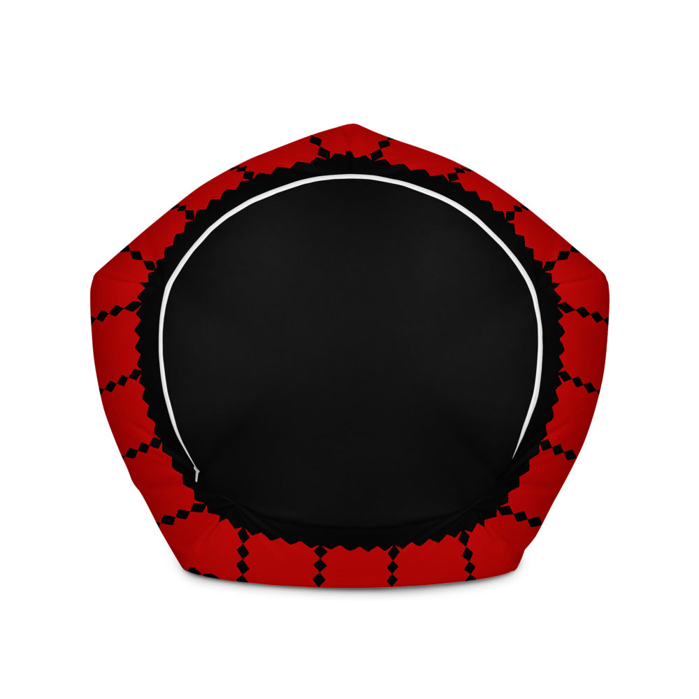 Red and Black Christmas Bean Bag Chair w/ filling