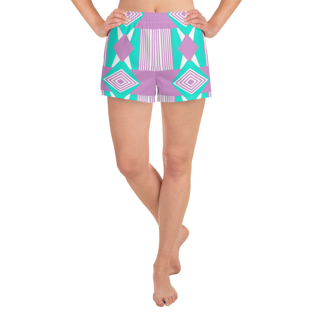 Purple Turquoise Women's Shorts