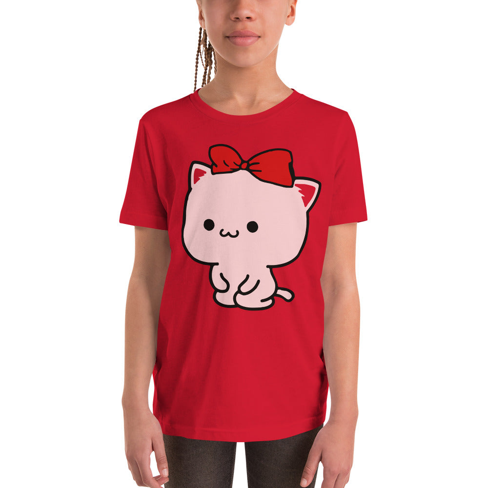 Cute Mimi and Neko Youth Short Sleeve T-Shirt