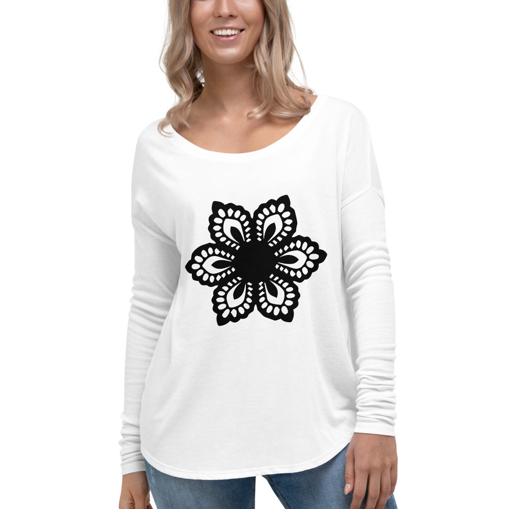 Floral Ladies' Long Sleeve Tee
