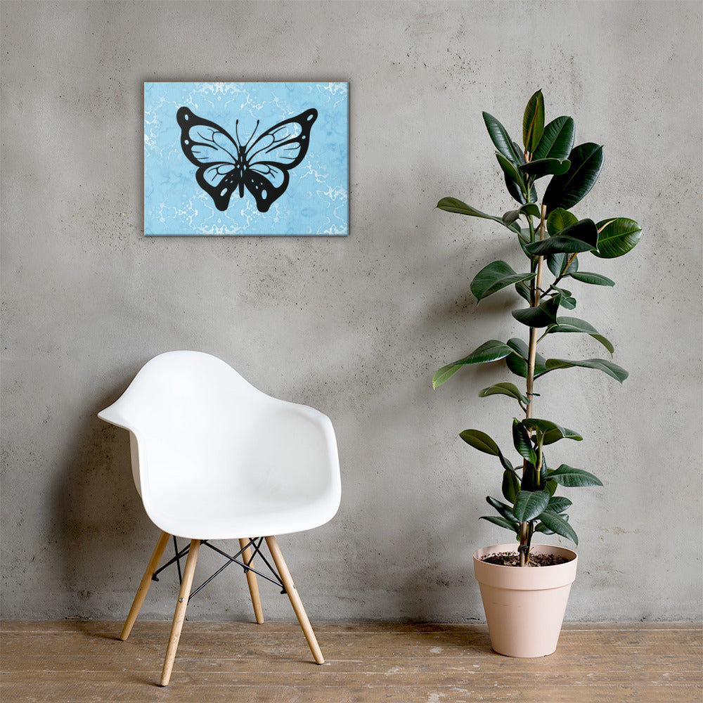 Butterfly Marble Canvas
