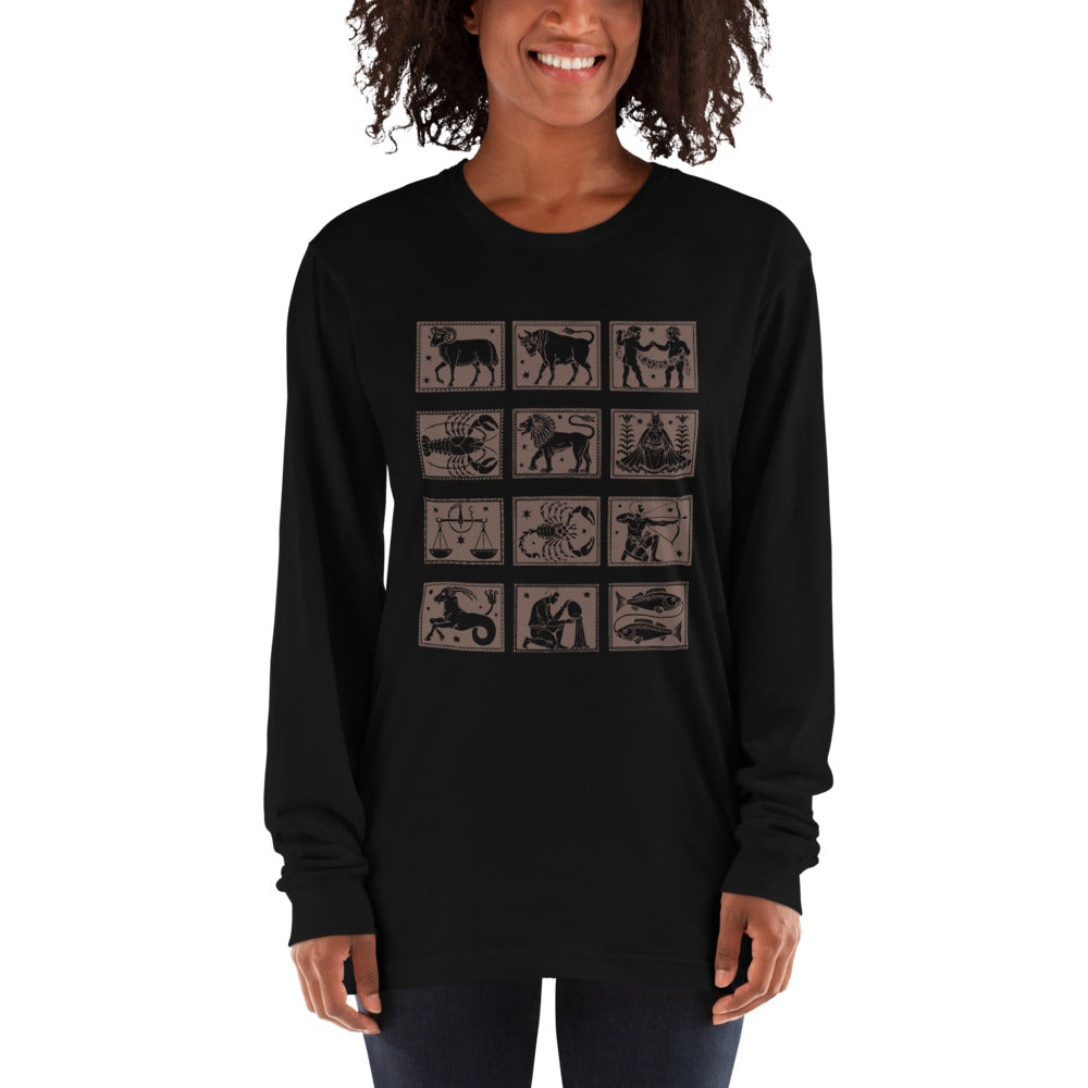 Womens Long sleeve t-shirt graphic zodiac