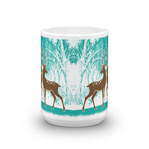 15oz Coffee Mug With a Picture of Brown Wild Deer