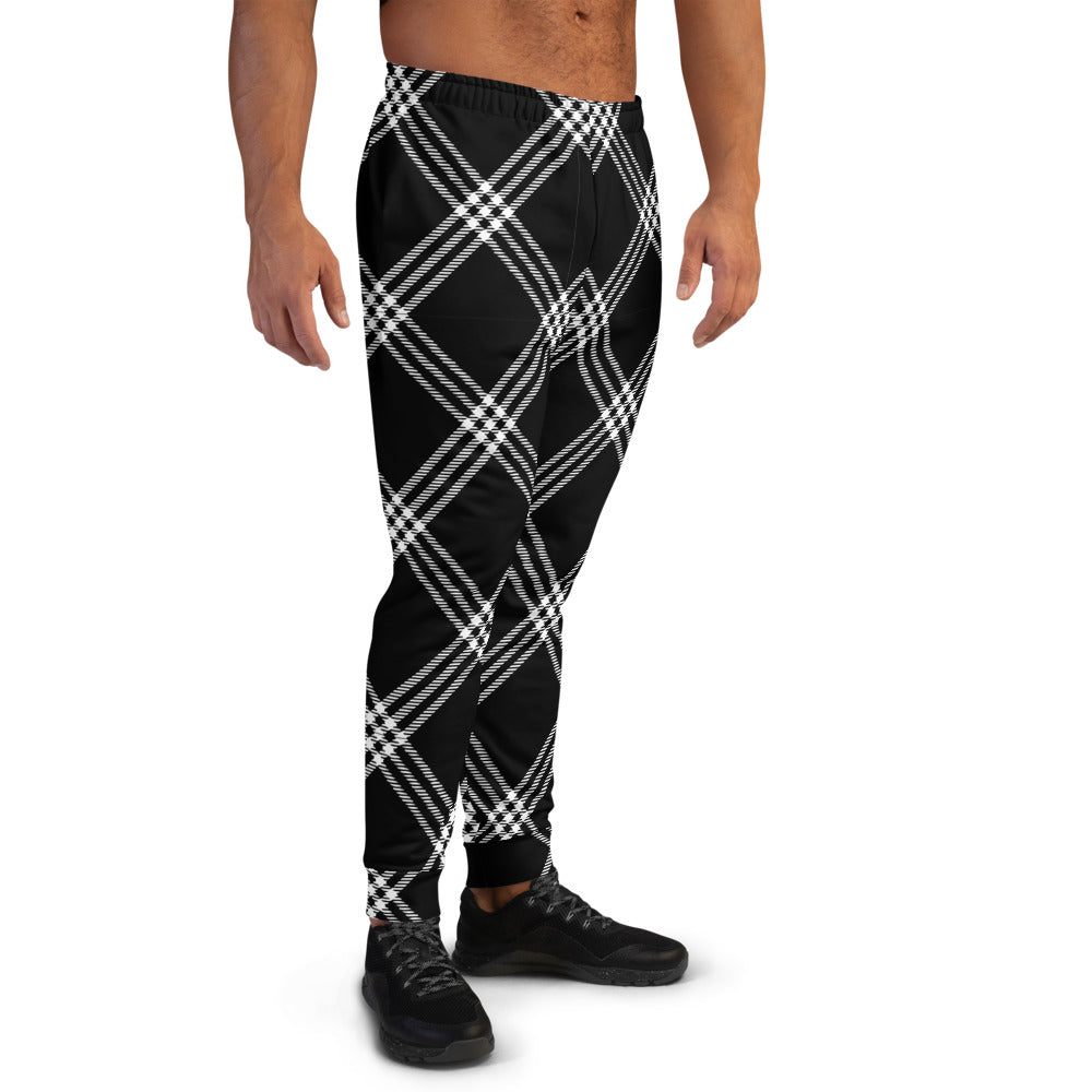 Black White Plaid Joggers