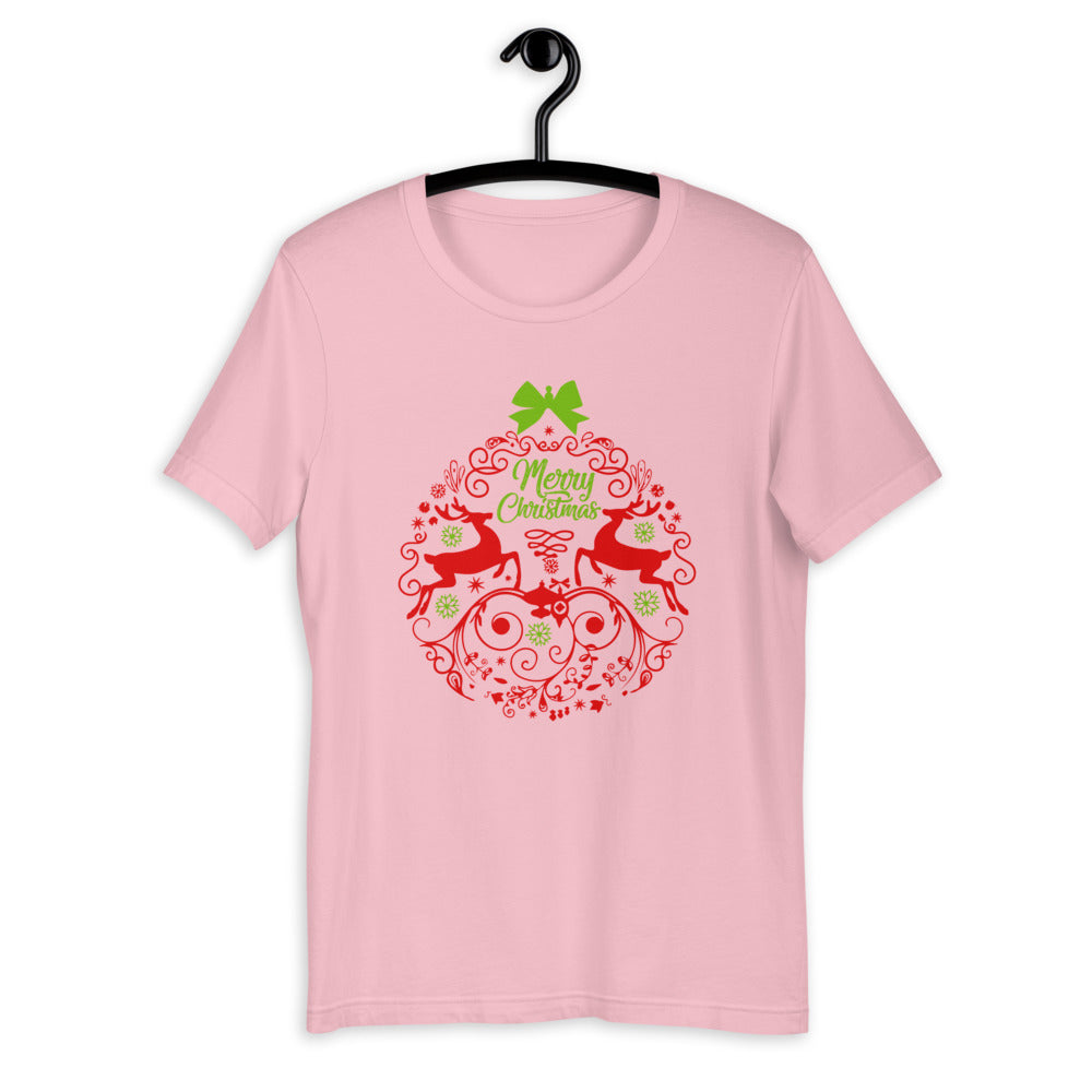 Merry Christmas Reindeer Ball T-Shirt for Men