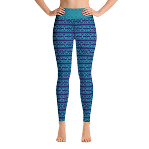 Blue Teal Yoga Leggings