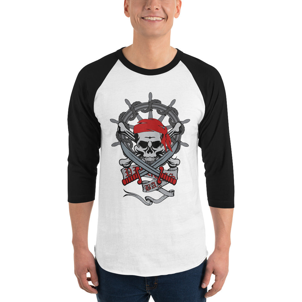 Pirate 3/4 Sleeve Raglan Shirt