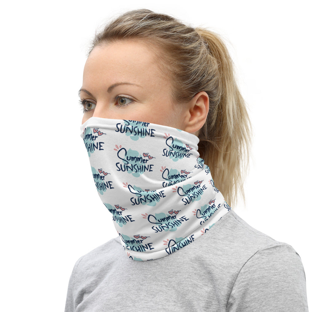 Summer Sunshine Heart Neck Gaiter Face Mask