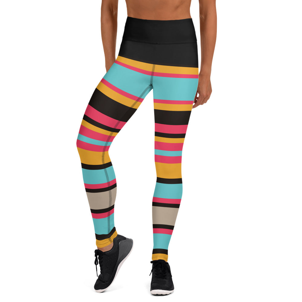 Colorful stripe Yoga Leggings