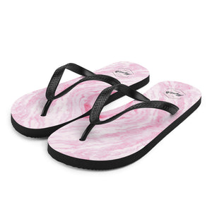 Pink Marble Flip-Flops for Men and Women
