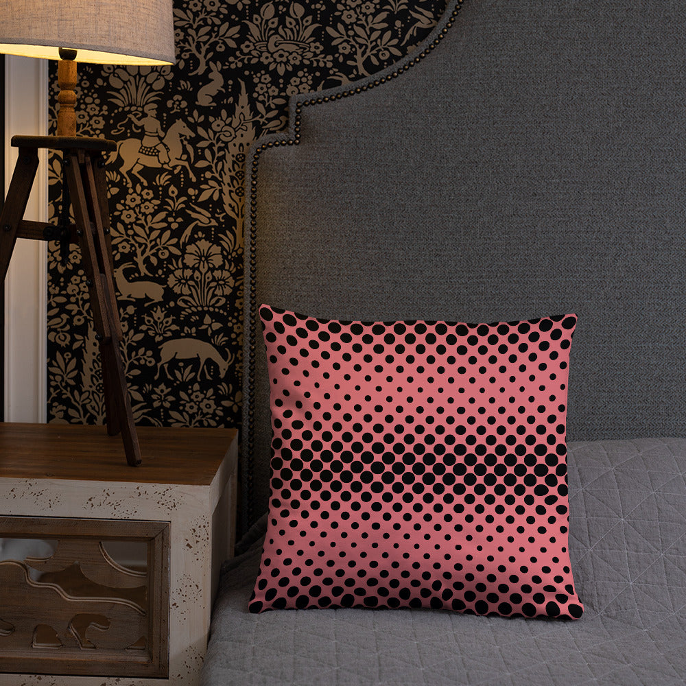 Pink Pillows with Black Dots