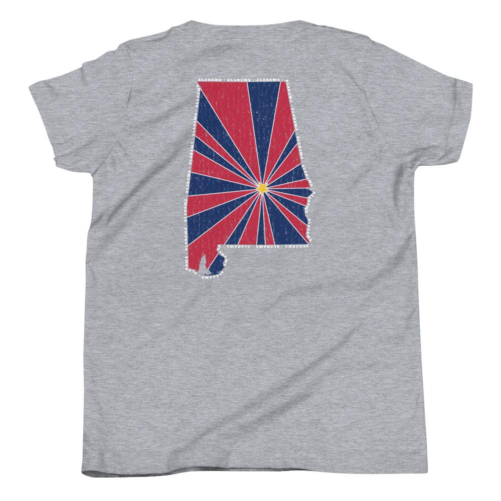 Alabama Starburst Youth T-Shirt-Fell Casuals