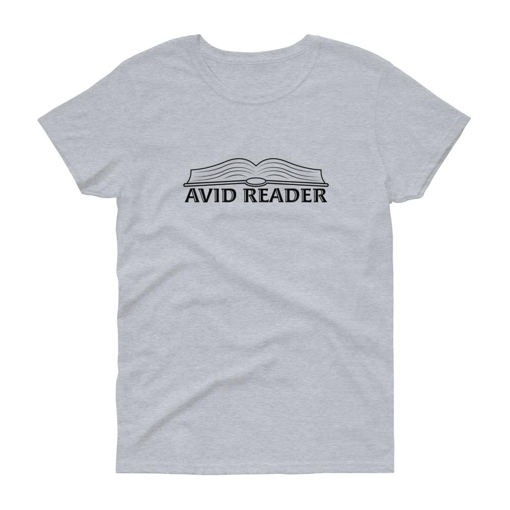 Avid Reader (Black) Women's Tee-Fell Casuals