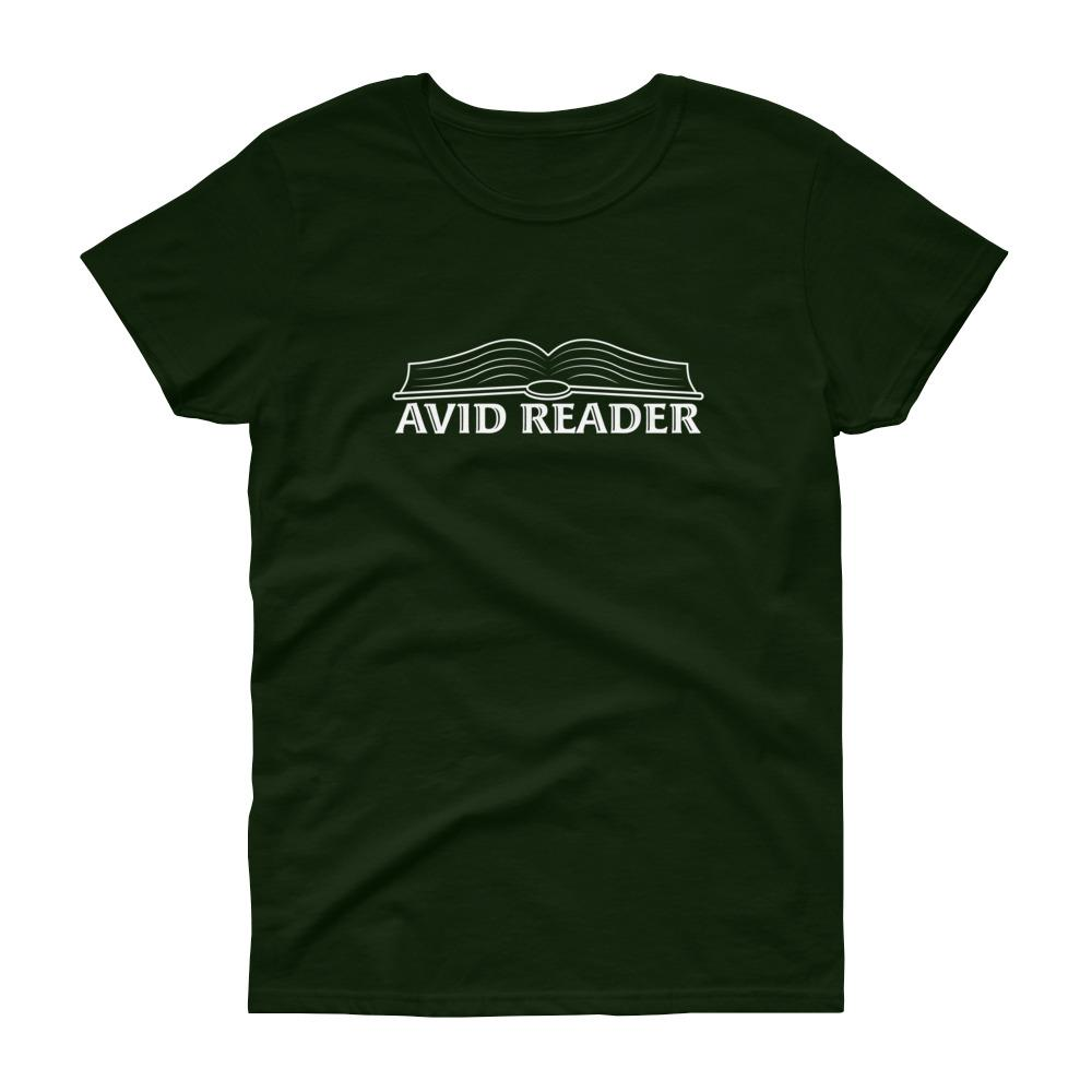 Avid Reader (White) Women's Tee-Fell Casuals