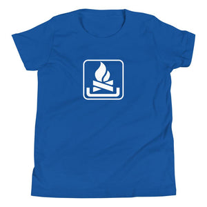 Campfire Icon Youth T-Shirt-Fell Casuals
