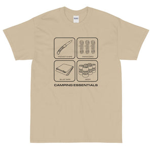Camping Essentials T-Shirt (Black)-Fell Casuals
