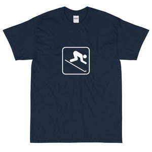 Downhill Skiing Icon T-Shirt-Fell Casuals