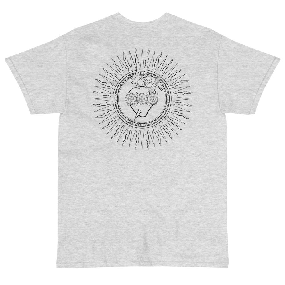 Immaculate Heart T-Shirt (Black)-Fell Casuals