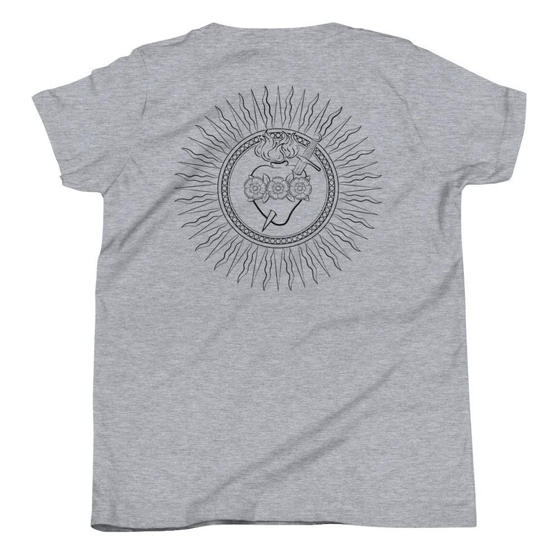 Immaculate Heart Youth T-Shirt (Black)-Fell Casuals