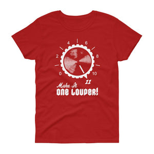 Make It One Louder! (White) Women's Tee-Fell Casuals