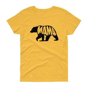 Mama Bear Tee (Black)-Fell Casuals
