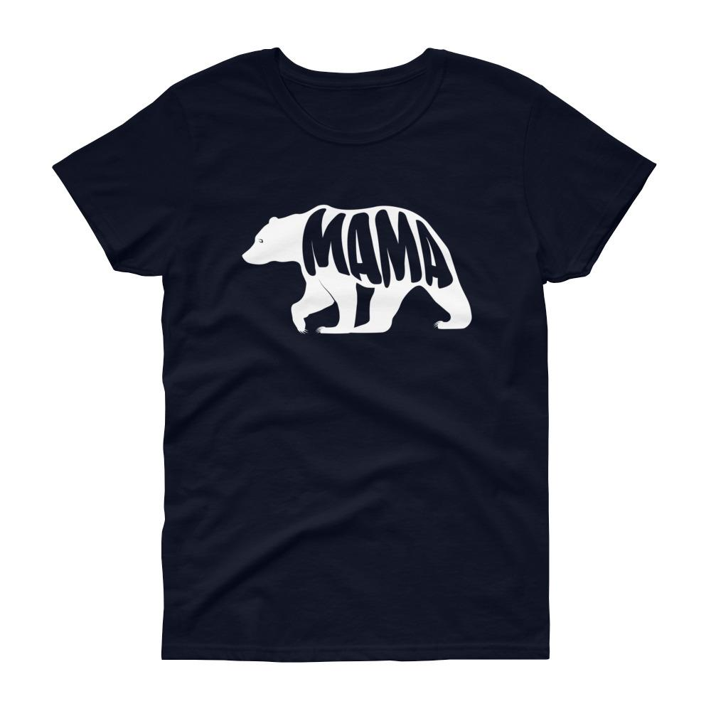 Mama Bear Tee (White)-Fell Casuals