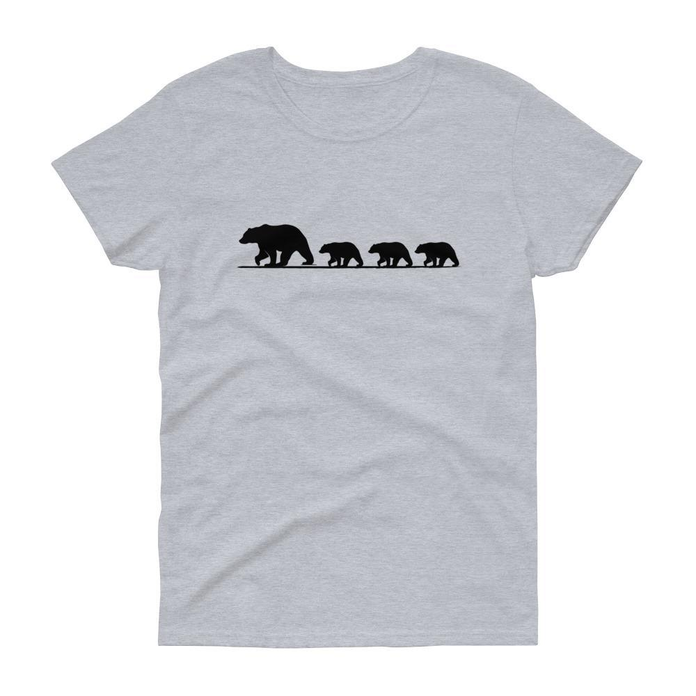 Mama Bear with Three Cubs Tee (Black)-Fell Casuals