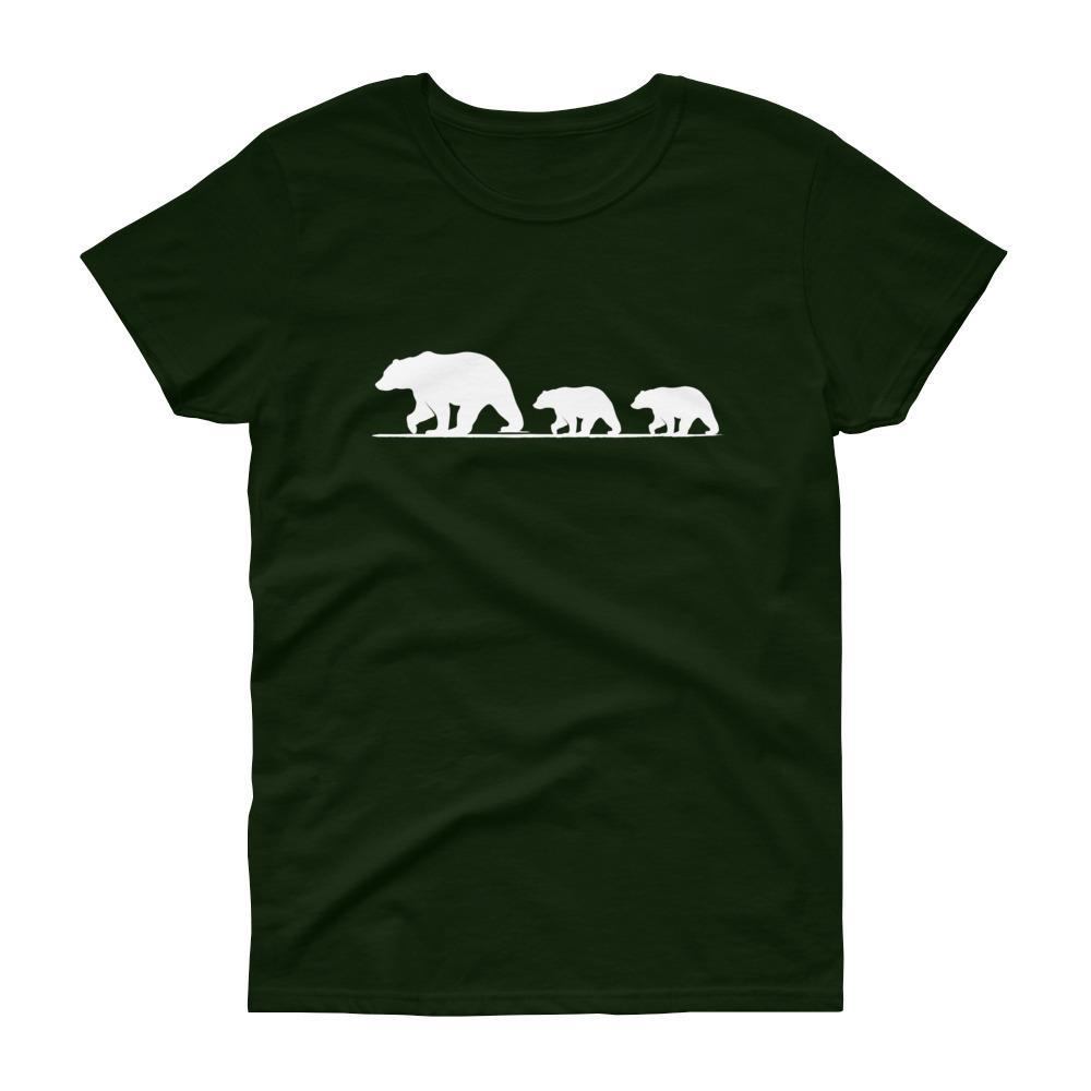 Mama Bear with Two Cubs Tee (White)-Fell Casuals