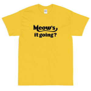 Meow's It Going? T-Shirt (Black)-Fell Casuals