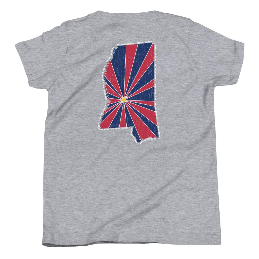 Mississippi Starburst Youth T-Shirt-Fell Casuals