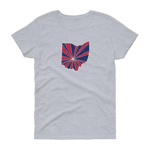 Ohio Starburst Women's Tee-Fell Casuals