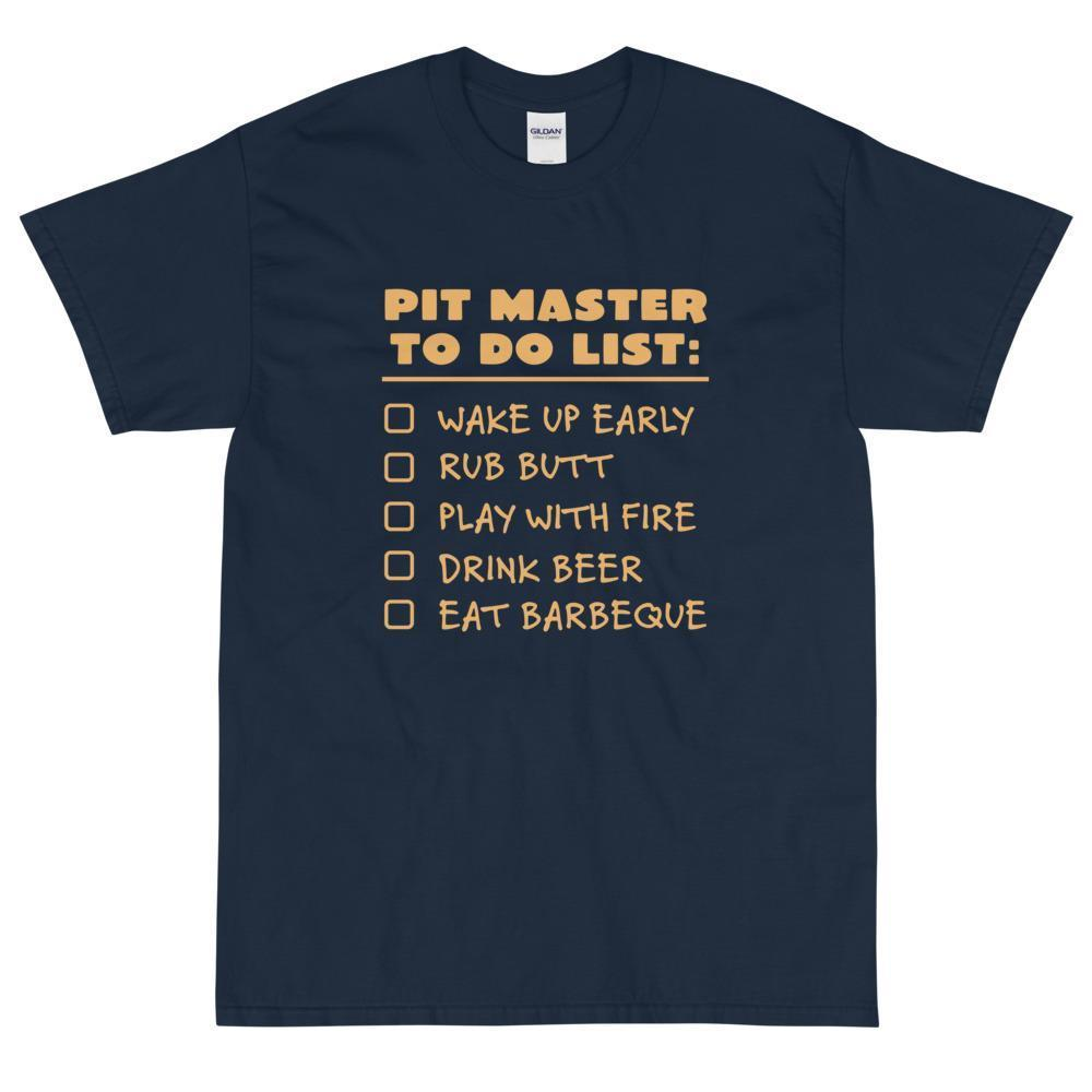 Pit Master To Do List T-Shirt (Orange)-Fell Casuals