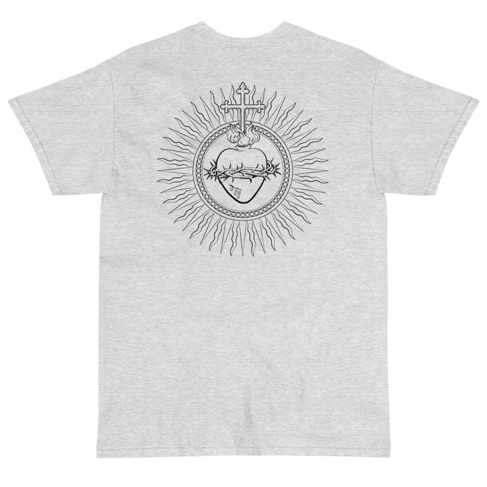 Sacred Heart T-Shirt (Black)-Fell Casuals