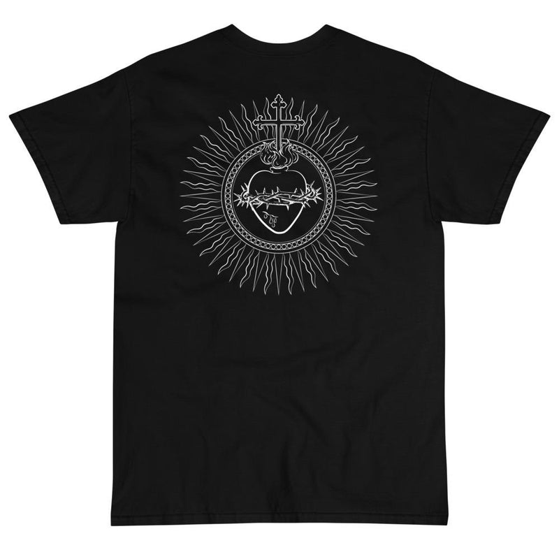 Sacred Heart T-Shirt (White)-Fell Casuals