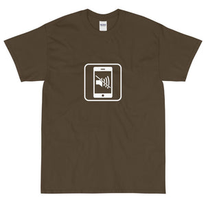 Silence Your Phone Icon T-Shirt-Fell Casuals