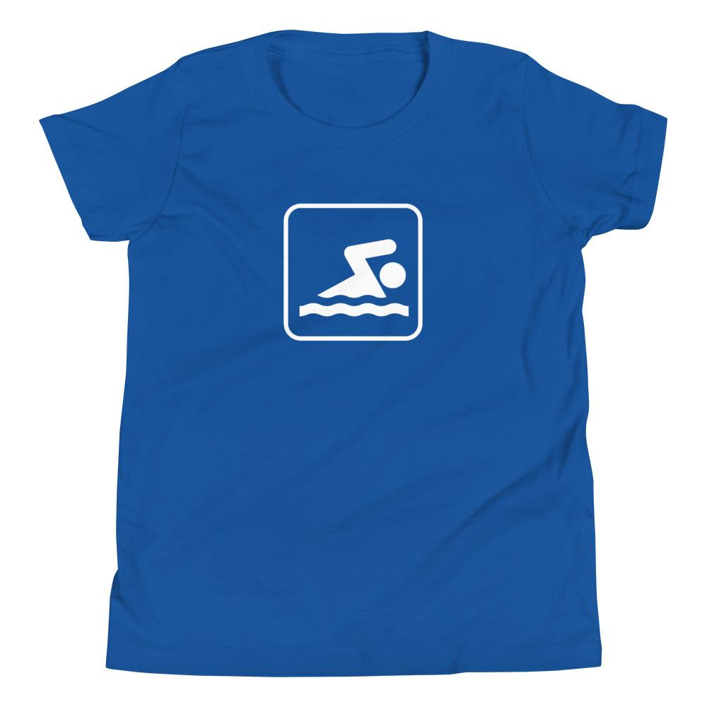 Swimming Icon Youth T-Shirt-Fell Casuals