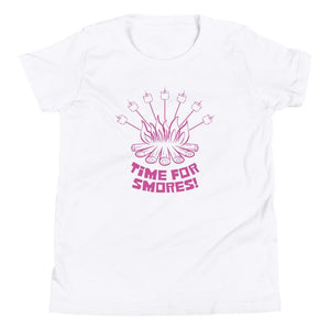 Time For Smores! (Pink) Youth Tee-Fell Casuals
