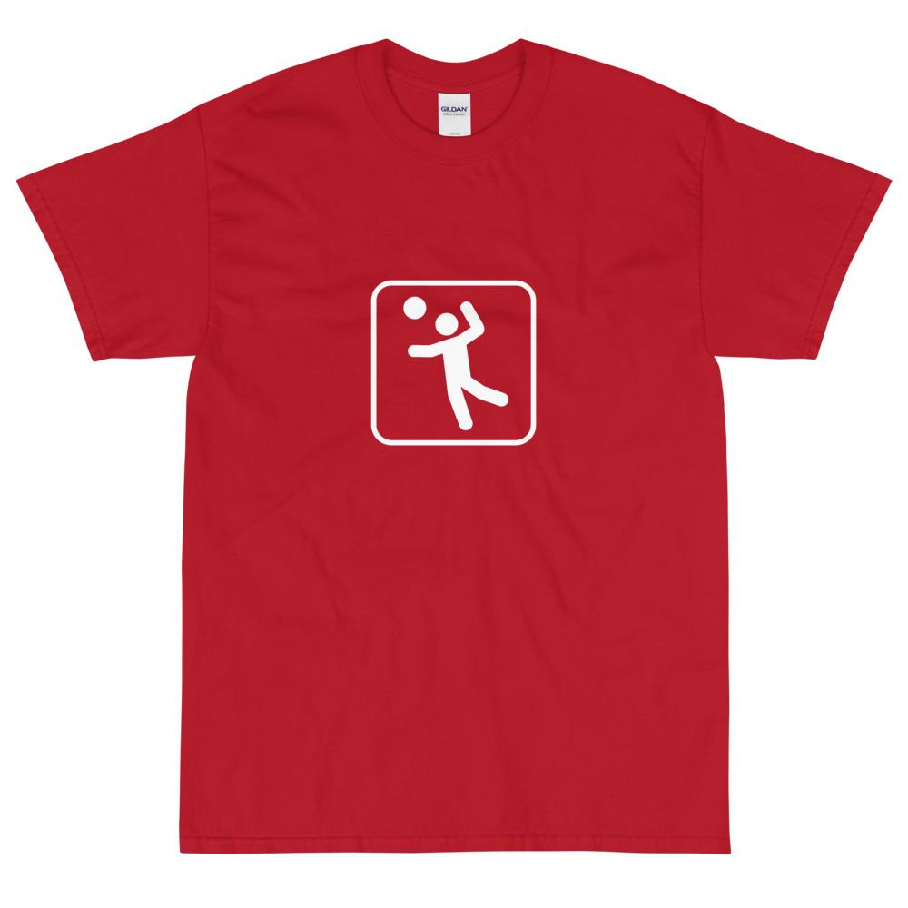 Volleyball Icon T-Shirt-Fell Casuals