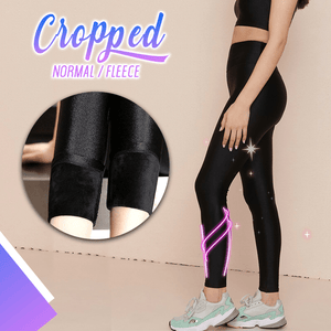 Sparkly Shaping Fleece Leggings