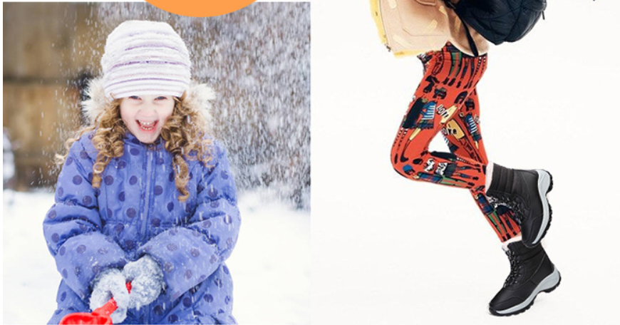 Parent-child series non-slip, waterproof, warm and velvet snow boots