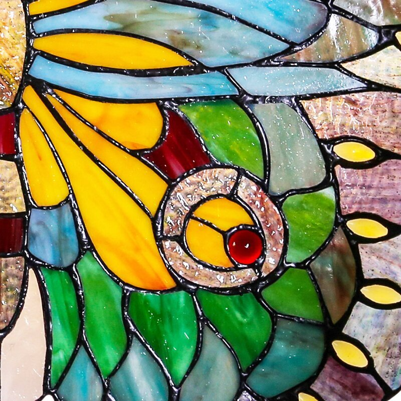 Swallowtail Butterfly Stained Glass Window Panel