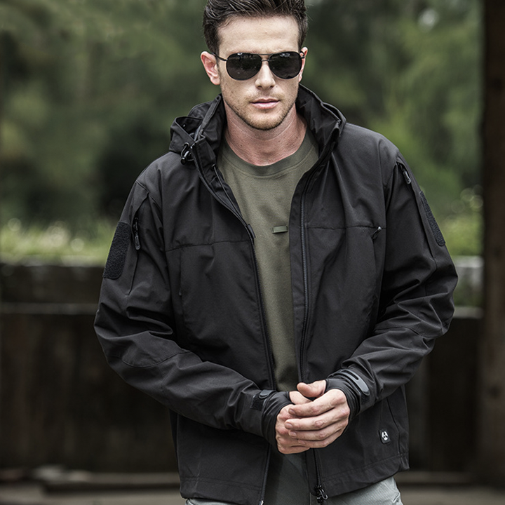 Mens Soft Tactical Waterproof Wind Resist Protective Jackets