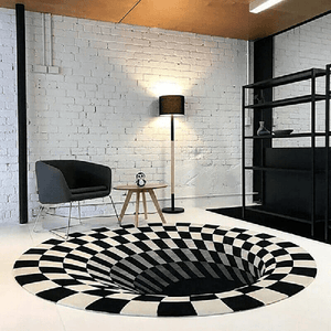 Vortex Illusion Rug Premium 3D House Rugs Mat for Living Room