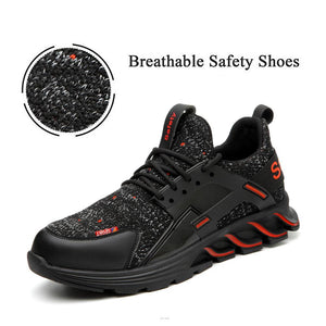 Breathable Steel Toe Leather Safety Shoes