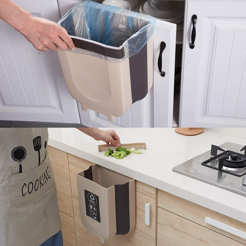 Hanging Trash Can for Kitchen Cabinet Door