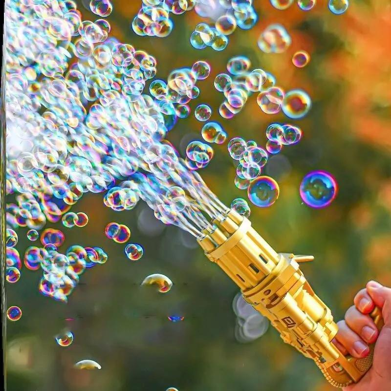 Bubble Machine Automatic Gatling Bubble Guns Bubble Maker Outdoor Toys