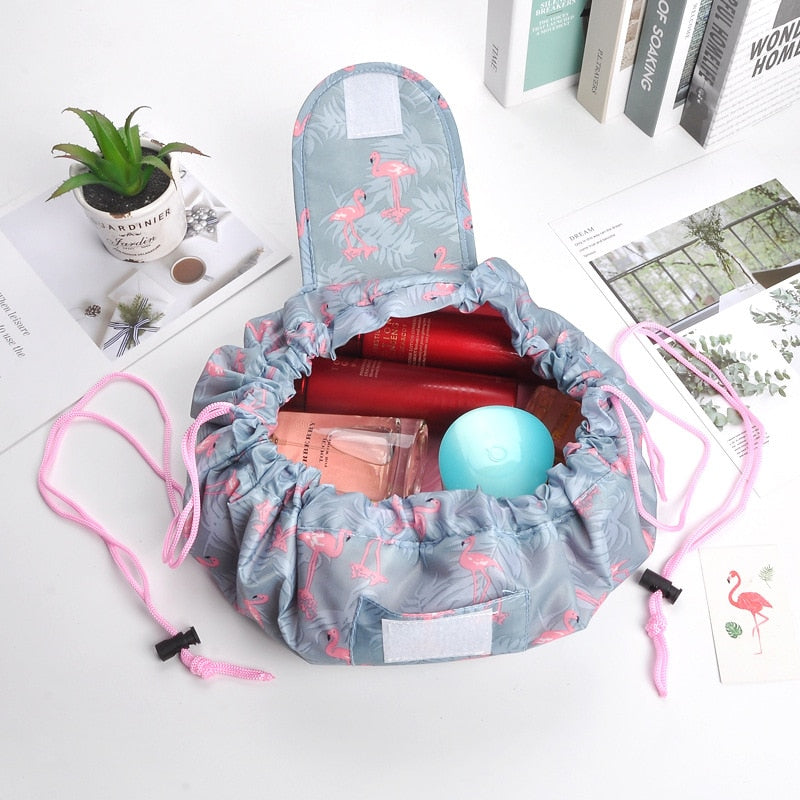 PLEEGA Women Drawstring Travel Cosmetic Bag Makeup Bag Organizer Make Cosmetic Bag Case Storage Pouch Toiletry Beauty Kit Box