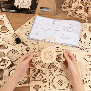 Wooden DIY 3D Puzzle Mechanical Gear Owl Clock